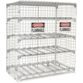 "SAFETY STORAGE CABINETS- 12 Cylinder Cap., Horizontal Storage Position, 42 x 76 x 38"" Size W x H x D H12H, Cabinets Flammable, Cabinets Safety, Fireproof Cabinets, Safety Equipment Cabinets, Cabinets Cylinder, Cylinder Cabinets, Safety Storage Cabinets, Flammable Material Cabinets, Drum Cabinet, Safety Cabinets, Safety Equipment, Flammable Storage, Acid Storage, Combustible Storage, Chemical Storage"