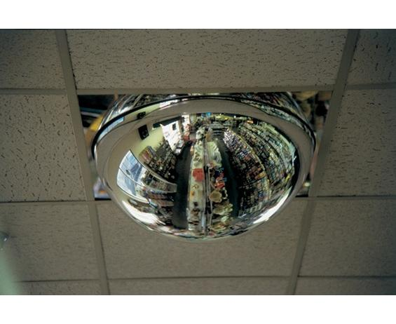 "DOME 360° DROP-IN MIRRORS- Regular Mirror Dome, 2 x 4 panel substitute Drop-In Panel, 24"" Diameter"
