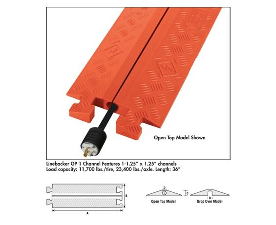 LINEBACKER® GP-1- 1-Channel protector open top, Orange
