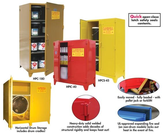 "FLAMMABLE STORAGE CABINETS- Blue, Vertical drum (drum roller available upon request) Cabinet Style, 55 Cap. (gals.), No. of Shelves 0, No. Doors 1, 32 x 71 x 32"" Size W x H x D"