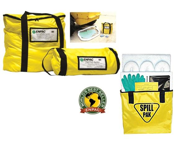 "ENPAC BAG-STYLE SPILL KITS- Fast Packâ""¢ Spill Kit, 8 x 17"" Universal, Absorbs up to 5 gals."