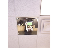 "FLAT ACRYLIC MIRROR CEILING PANELS- 24 x 24"", See-Thru Mirror"