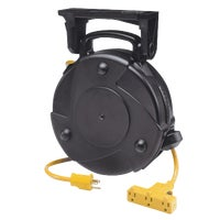 8150M-P Alert Stamping Industrial Triple Tap Retractable Extension Cord Reel 8050MP, Alert Stamping Tri-Tap Pro Reel Retractable Extension Cord