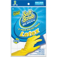 12322-26 Soft Scrub 2-Pair Pack Latex Rubber Glove gloves rubber scrub soft