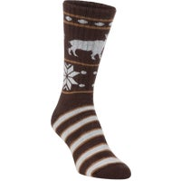 71773 Hiwassee Trading Company Moosin Up Novelty Crew Sock