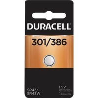 66127 Duracell 301/386 Silver Oxide Button Cell Battery 66127, 66127 Duracell Silver Oxide Coin Watch Battery