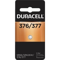 41687 Duracell 376/377 Silver Oxide Button Cell Battery 41687, 41687 Duracell Silver Oxide Coin Watch Battery