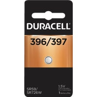 66143 Duracell 396/397 Silver Oxide Button Cell Battery 66143, 66143 Duracell Silver Oxide Coin Watch Battery