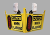 Look Out 4 - Ceiling Mount - Collision Awareness Look Out 4, Collision Awareness, Collision Safety, Safety Products, Forklift Safety, Warehouse Safety, Collision Awareness, Dock Safety, Dock Awareness, Hall Collision, Office Collision