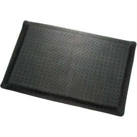 "276019BK Diamond Plate Ergonomic Mat 9/16""Thick 36""W Cut Length Up To 75ft, Black"