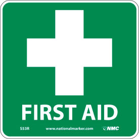 S53P Graphic Facility Signs - First Aid - Vinyl 7x7