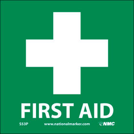 S53AP Graphic Facility Signs - First Aid - Vinyl 4x4