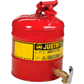 7150150 Justrite; 5 Gallon Safety Shelf Can with Bottom Faucet 08902, 7150150