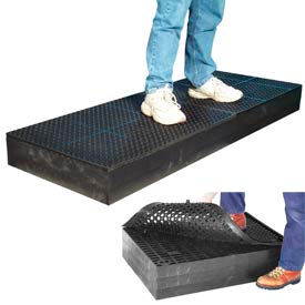 "M28780 7/8"" Thick Anti Fatigue Mat - Black 24X96"