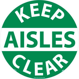 WFS12 Floor Signs - Keep Aisles Clear