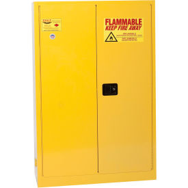 1945 Eagle Flammable Cabinet with Self Close Bi-Fold Double Door 45 Gallon