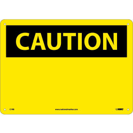 "C1RB Safety Signs - Caution Blank - Rigid Plastic 10""H X 14""W"