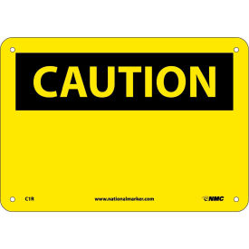 "C1R**** Safety Signs - Caution Blank - Rigid Plastic 7""H X 10""W"