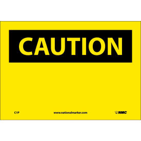 "C1P Safety Signs - Caution Blank - Vinyl 7""H X 10""W"