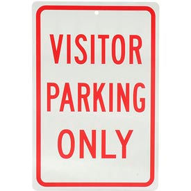 "932136 Aluminum Sign - Visitor Parking Only - .063"" Thick, 932136"