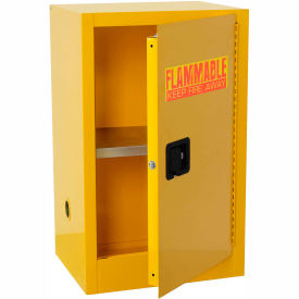 962356-Global; Compact Flammable Storage Cabinet 16 Gallon Capacity 1 Shelf