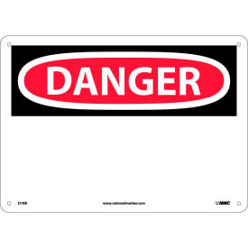 "D1RB Safety Signs - Danger - Rigid Plastic 10""H X 14""W"