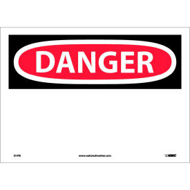 "D1PB Safety Signs - Danger - Vinyl 10""H X 14""W"
