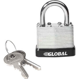 959101T General Security Laminated Steel Padlock with Bumper and Two Keys - Keyed Differently