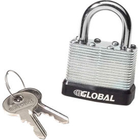 959101U General Security Laminated Steel Padlock with Bumper and Two Keys - Keyed Differently