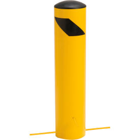 "652898G Steel Bollard With Removable Plastic Cap & Chain Slots For Underground 24"" x 5-1/2"""