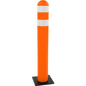 "1734-OR Eagle Poly Guide Post Delineator 42"" x 5.75"" Dia Orange, 1734-OR"