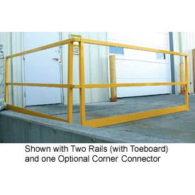 "square steel guard rail with toeboard 41-5/8""h x 122-1/2""l Square Steel Guard Rail With Toeboard 41-5/8""H X 122-1/2""L"