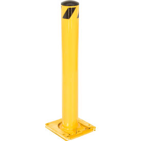 238795 Removable Steel Bollard With Removable Plastic Cap 36 X 5-1/2