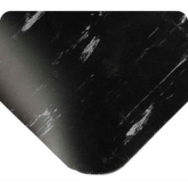 "420.12x4CUTAMBK Antimicrobial Tile Top Antifatigue Mat 1/2"" Thick 4 Ft Wide Up To 60 Ft Black"