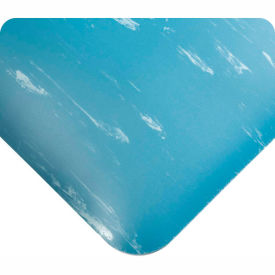 "420.12x4CUTAMBL Antimicrobial Tile Top Antifatigue Mat 1/2"" Thick 4 Ft Wide Up To 60 Ft Blue"