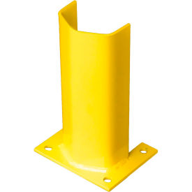 "1/4PO12SY 1/4"" Thick 12"" H Steel Post Protector Yellow"