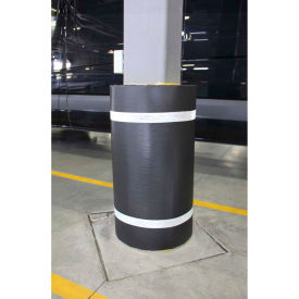 "44""h x 60""w soft nylon column protector - black cover/white tapes 44""H x 60""W Soft Nylon Column Protector - Black Cover/White Tapes"
