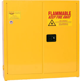 1976 Eagle Compact Flammable Cabinet - Manual Close Door 24 Gallon