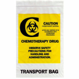 "reclosable chemotherapy drug transport bags, 4 mil, 12"" x 15"", clear, case of 500 Reclosable Chemotherapy Drug Transport Bags, 4 mil, 12"" x 15"", Clear, Case of 500"