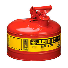 7125100 Safety Can Type I - 2-1/2 Gallon Galvanized Steel, Red, 7125100
