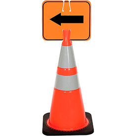03-550-2WA Cone Sign - Reversible Arrow - Black on Orange