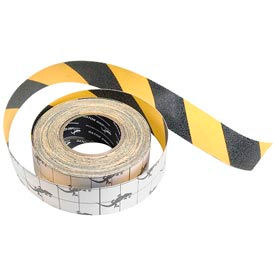 "SG3902YB Anti-Slip Traction Yellow/Black Hazard Striped Tape Roll, 2"" x 60 Feet"