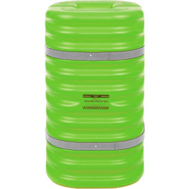 "eagle column protector, 9"" column opening, 42"" high, lime with reflective straps, 1709lm Eagle Column Protector, 9"" Column Opening, 42"" High, Lime with Reflective Straps, 1709LM"