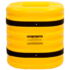 "1724-8 Eagle Column Protector, 8"" Column Opening, 24"" High, Yellow, 1724-8"