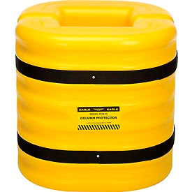 "1724-10 Eagle Column Protector, 10"" Column Opening, 24"" High, Yellow, 1724-10"