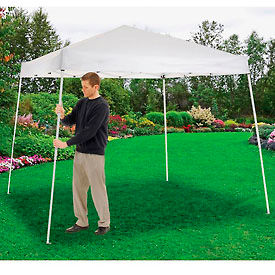 "602190WH Portable Slant Leg Pop Up Canopy, 10L X 10W X 8 11""H, White"