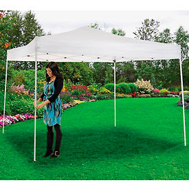 "602191WH Portable Straight Leg Pop Up Canopy, 10L X 10W X 10 1""H, White"