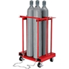 270217C Forkliftable Cylinder Storage Caddy, Mobile For 4 Cylinders