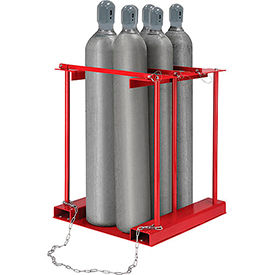 270218 Forkliftable Cylinder storage Caddy, Stationary For 6 Cylinders