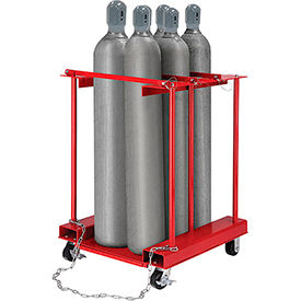 270218C Forkliftable Cylinder Storage Caddy, Mobile For 6 Cylinders